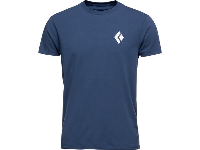 Black Diamond Equipment for Alpinist Camiseta Manga Corta Hombre, ink blue